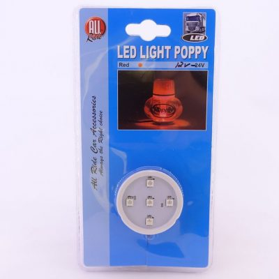 Led Light Poppy Rød